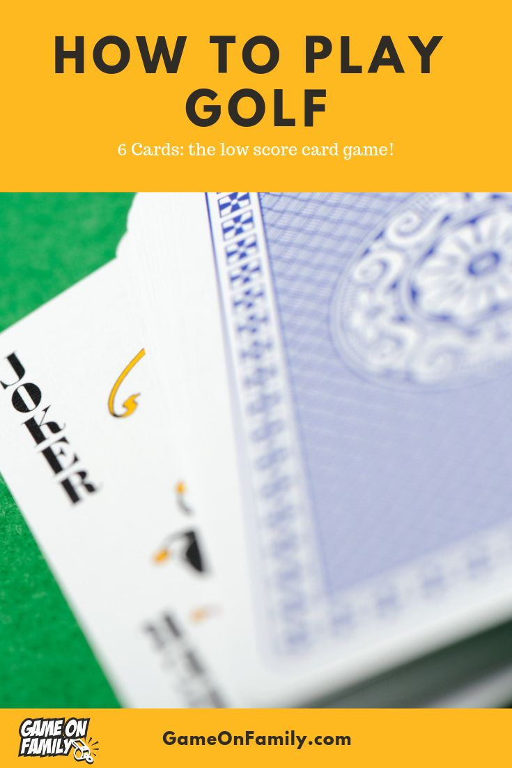 How to play 6 card golf the low score card game game on