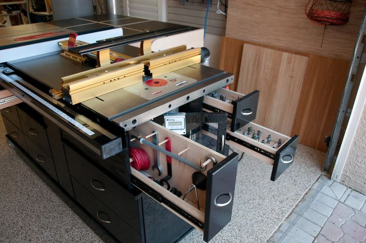 Sawstop And Router Cabinet Infeed Table Outfeed Table