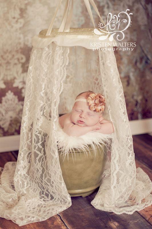 Spitzen Baldachin, Fotografie Prop Spitzen Baldachin, Neugeborenen Fotografie Prop, cremefarben, Chiffon Trim, Betthimmel, Mädchen, Vintage   – دکور