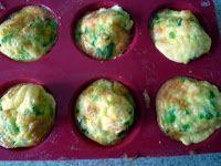 Hartige muffins met ham, kaas en groene paprika Ingrediënten: Voor 12 kleine muffins, ongeveer 6 porties: 1 volle kop fijngesneden ...