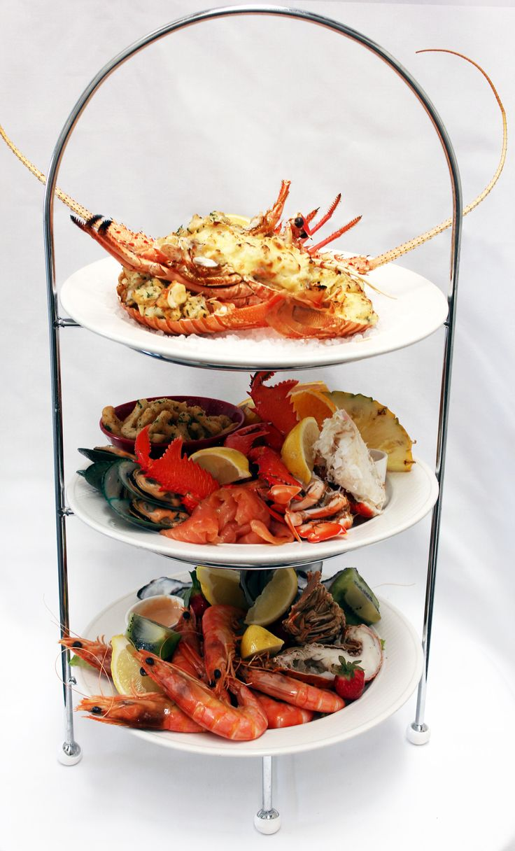 Seafood Platters  Add a magnificent seafood fantasy platter featuring Moreton Bay Bugs, prawns, oysters, calamari, lobster and more.  #brisbaneriver #kookaburraqueen #functions #venue #brisbane  #event #water #boat #cruise #lights #pretty #city #weddings #functions #events #dinner #lunch #hightea #seafood