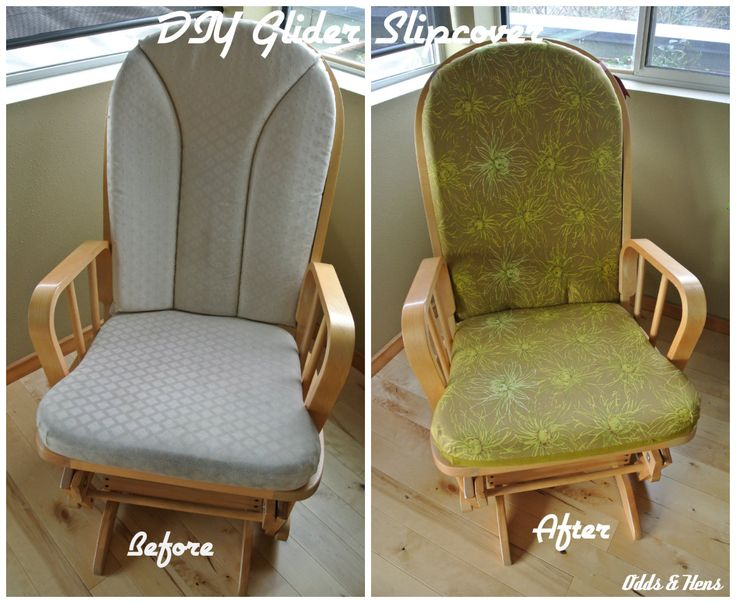 Simple DIY Glider Slipcover Tutorial – Refashion Your Rocker www.GirlGab.com