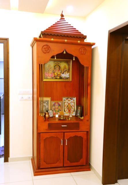 Small Pooja Cabinet Designs And Ideas Home Makeover Home Pooja