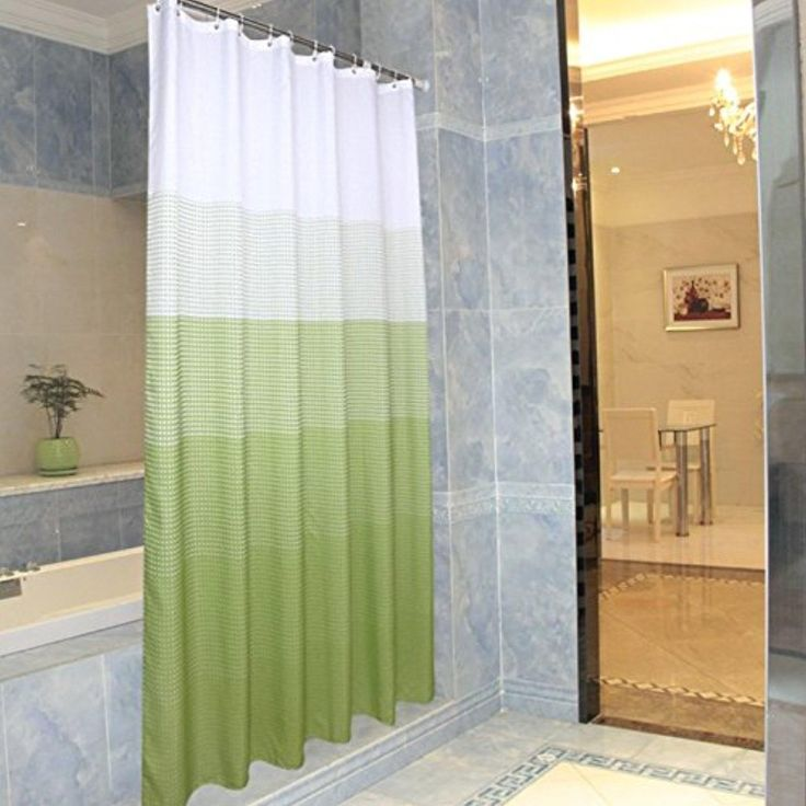 Bestingflight Green Gradient Shower Curtain 7272Inch - Brought to you by Avarsha.com