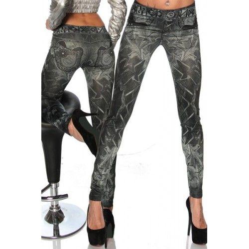 Casual Slimming Mid-Waisted Tattoo Graffiti Print Jean Leggings For Women black (Casual Slimming Mid-Waisted Tattoo Graffiti Print Jean L) by http://www.irockbags.com/casual-slimming-midwaisted-tattoo-graffiti-print-jean-leggings-for-women-black