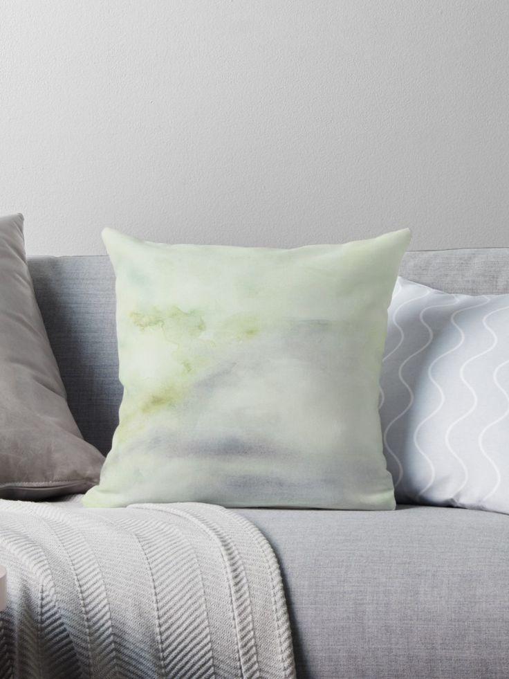 green decor pastel pillow delicate grey tones interior ideas cozy elegant cushion