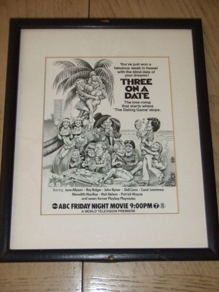 RARE 1978 TV Guide PROOF Photo Ad Three On A Date Didi