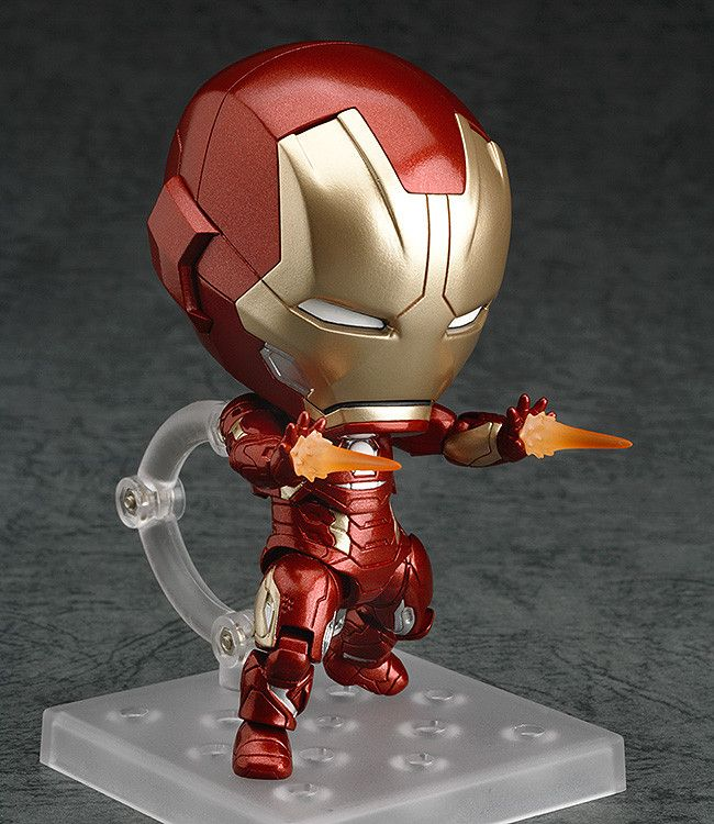 Nendoroid Iron Man Mark 45: Hero's Edition (ねんどろいど あいあんまん まーく45 ひーろーず・えでぃしょん) Series Avengers: Age of Ultron Manufacturer Good Smile Company Category Nendoroid Price ¥5,370 (Before Tax) Release Date 2015/12 Specifications Painted ABS&PVC non-scale articulated figure with stand included. Approximately 100mm in height. Sculptor toytec D.T.C Cooperation Nendoron
