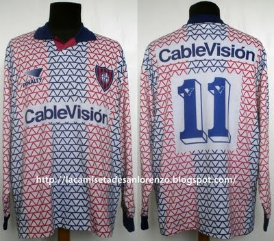 1995-Camiseta Penalty Alternativa, usada en juego por ESTEBAN GONZALEZ