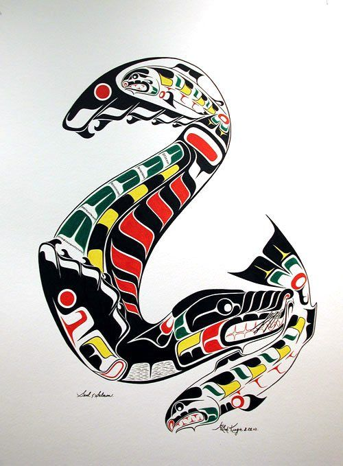 1000 ideas about salmon tattoo on pinterest elk tattoo for Native american tattoo artist seattle