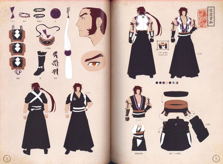 Character Design Journal : Best artbook touken ranbu images on pinterest