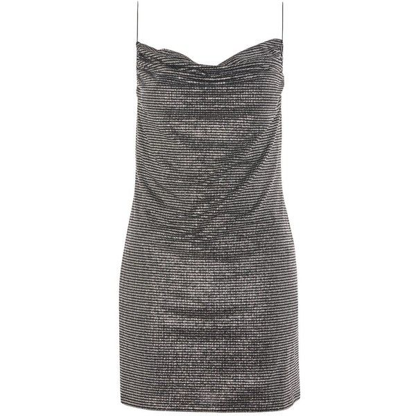 Topshop Petite Cowl Metallic Slip Dress (510 ARS) ❤ liked on Polyvore featuring dresses, silver, petite dresses, metallic slip dress, cowl neck slip dress, glitter bodycon dress and topshop dresses