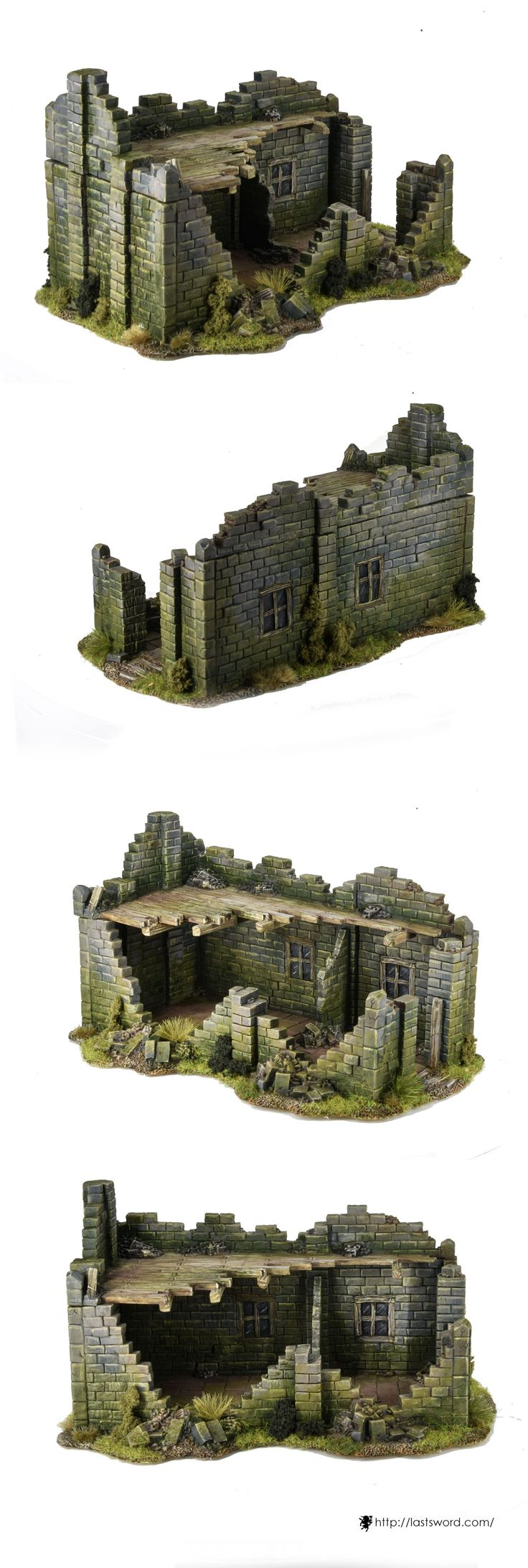 Ruined house for Warhammer fantasy, Mordheim, Age of Sigmar, Kings of war, Frostgrave, and others wargames. Sculpte by Comi, painted by Asdarel.