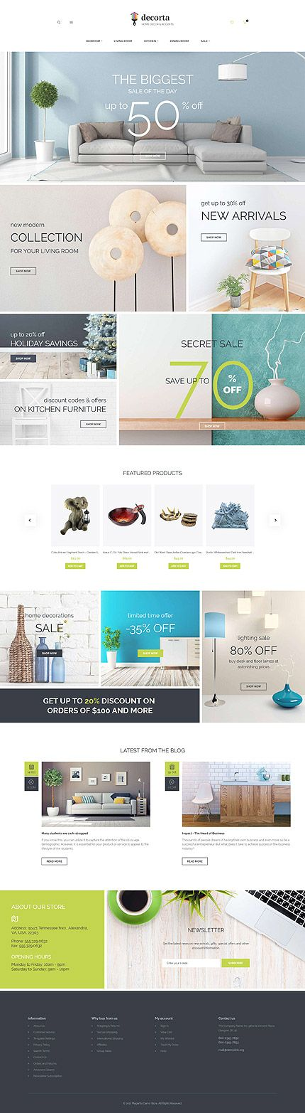 Template 62090 - Decorta Furniture  Responsive Magento  Theme