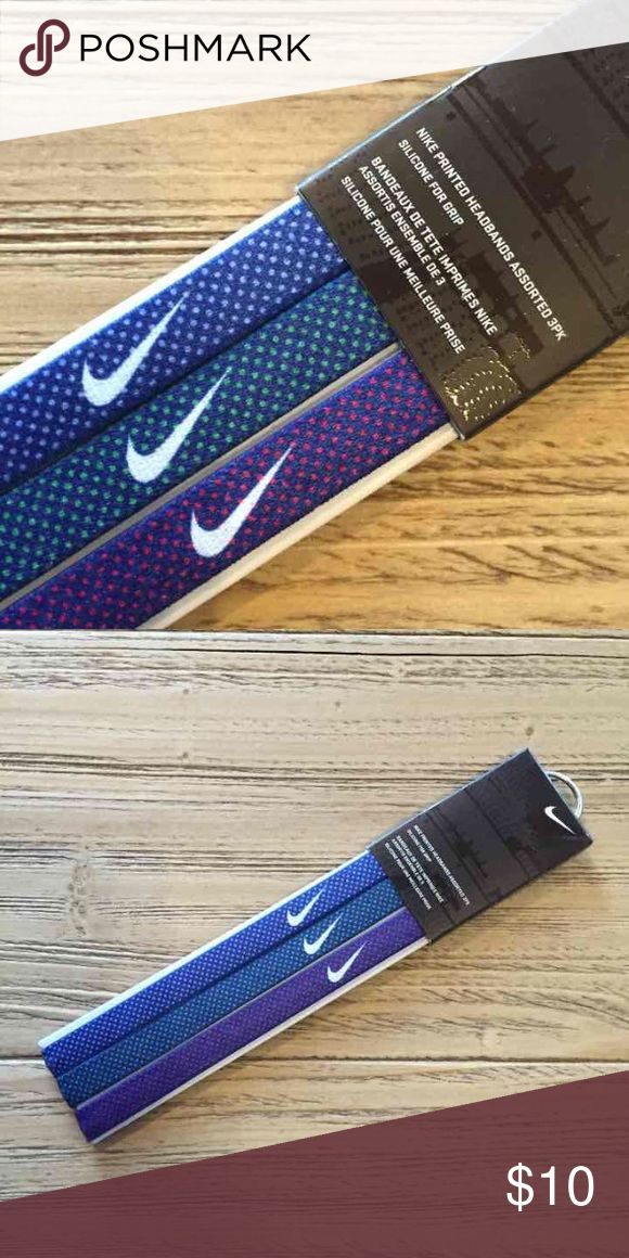 New Nike headband set with silicone grips New Nike headband set Nike Accessories Hair Accessories