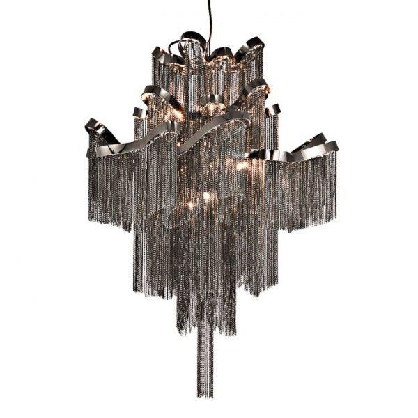 Plaza Sort Ø60 - Stor og elegant sortfarget Moderne Lysekrone i