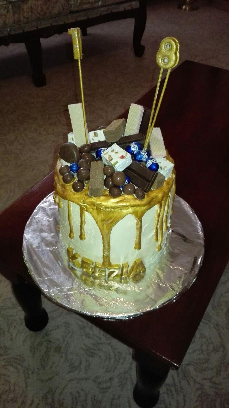 My daughter's 18th birthday drip Cake 😁