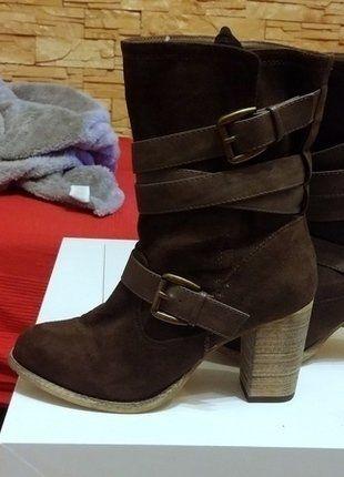 Kup mój przedmiot na #vintedpl http://www.vinted.pl/damskie-obuwie/botki/16716662-botki-new-look-brazowe-paski-nowe-wild-fit-obcas-slupek-rozm-39-6