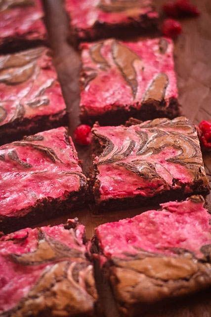 Raspberry Cheesecake Swirled Brownies (Katie Conn pinned this, so MAYBE she'll make them??)