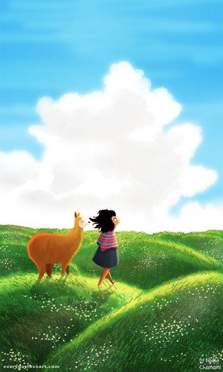 que te vaya bien #alpaca #illustration #nidhichanani