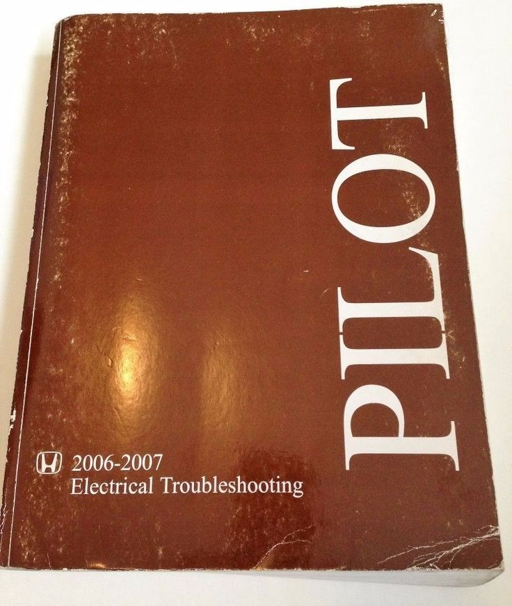 2006 2007  Honda Pilot Electrical Troubleshooting Manual USED OEM Factory Copy