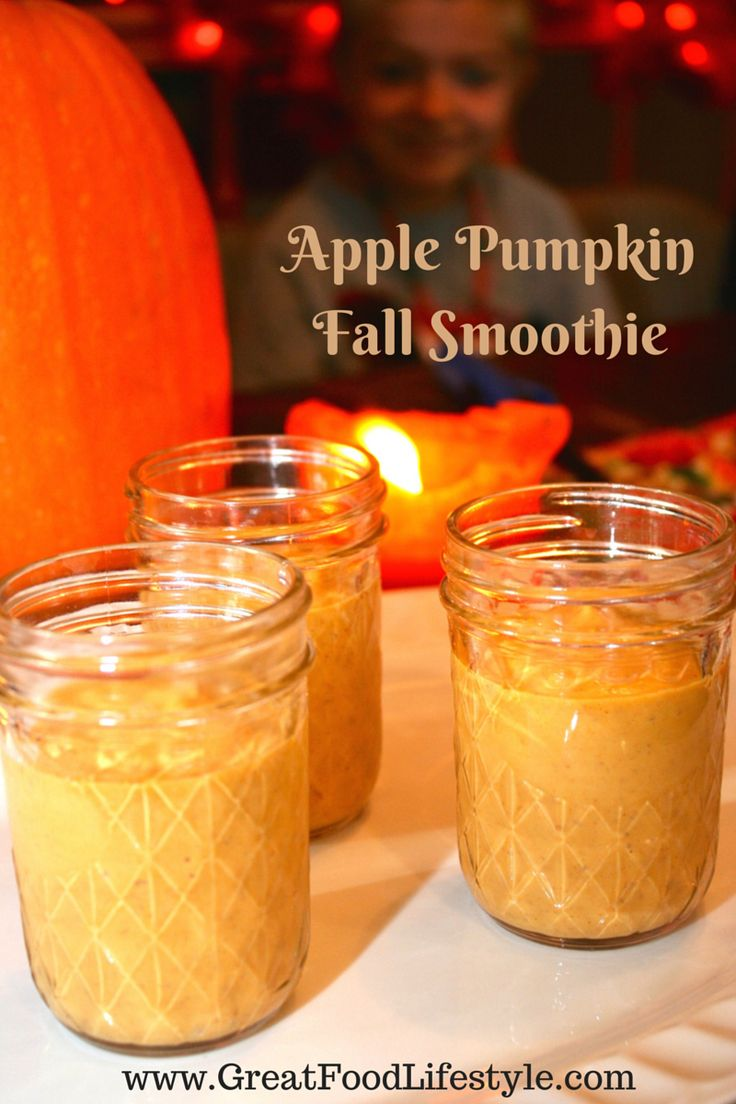 Apple Pumpkin Fall Smoothie, with Paleo and low carb options. I lost 8 sizes and reversed Type 2 Diabetes through diet and lifestyle. For more healthy recipes follow me on Pinterest and subscribe to my blog at this link! #applepumpkinsmoothie