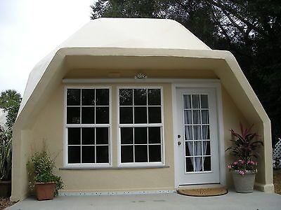 Prefab Home Kit - Geodesic Dome Home - Fire Resistant Cement Shell                                                                                                                                                                                 Mehr
