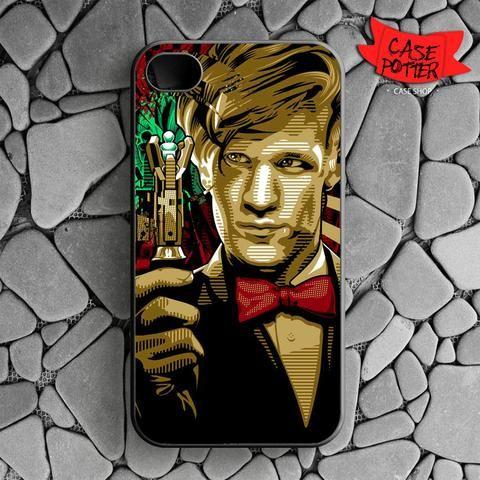 Doctor Who Matt Smith iPhone 4 iPhone 4S Black Case