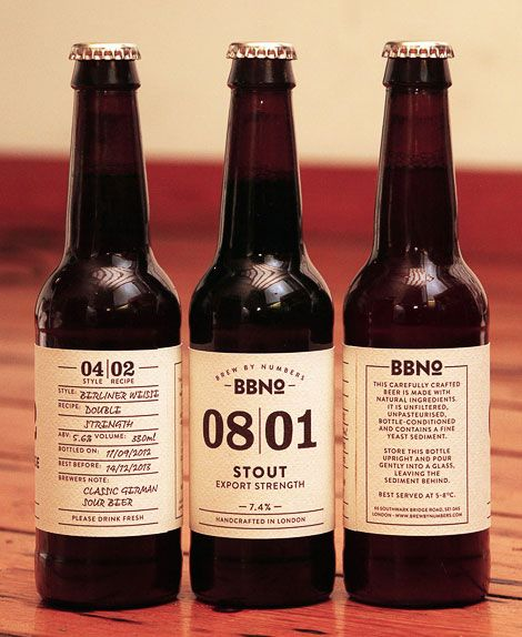 Brew by Numbers labels, designed by Duke Harper.  beer mxm