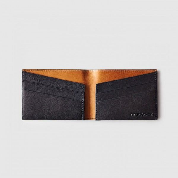 The Purist | Men's Slim Minimalist Leather Wallet | Black