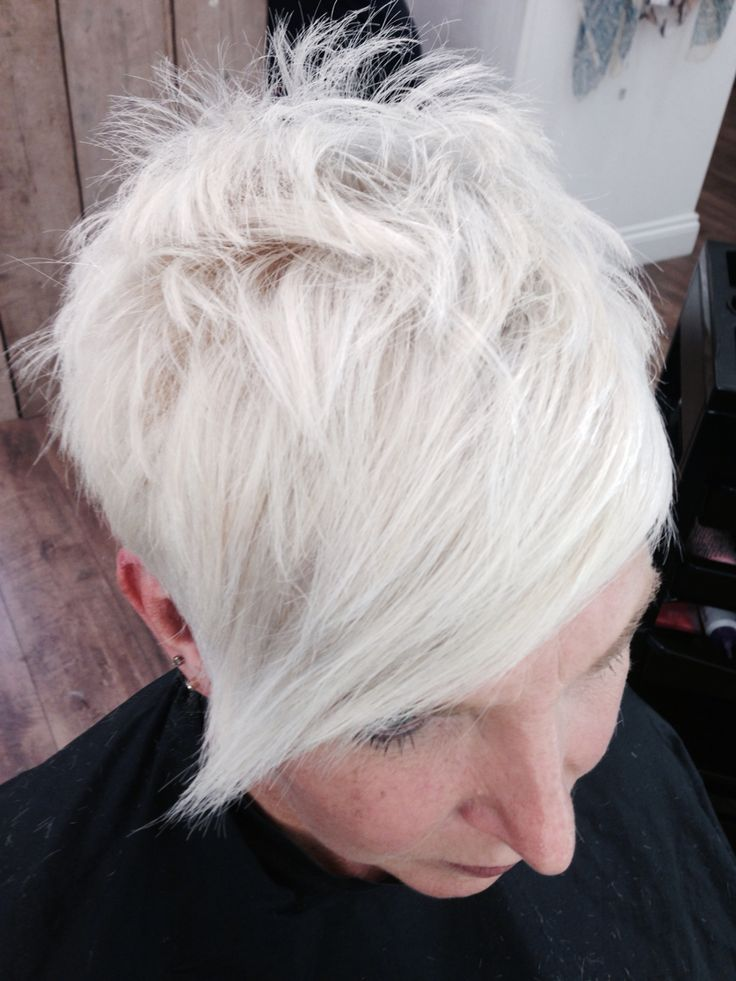 Icy white, funky crop. Created within our salon.