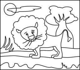 lion online coloring page