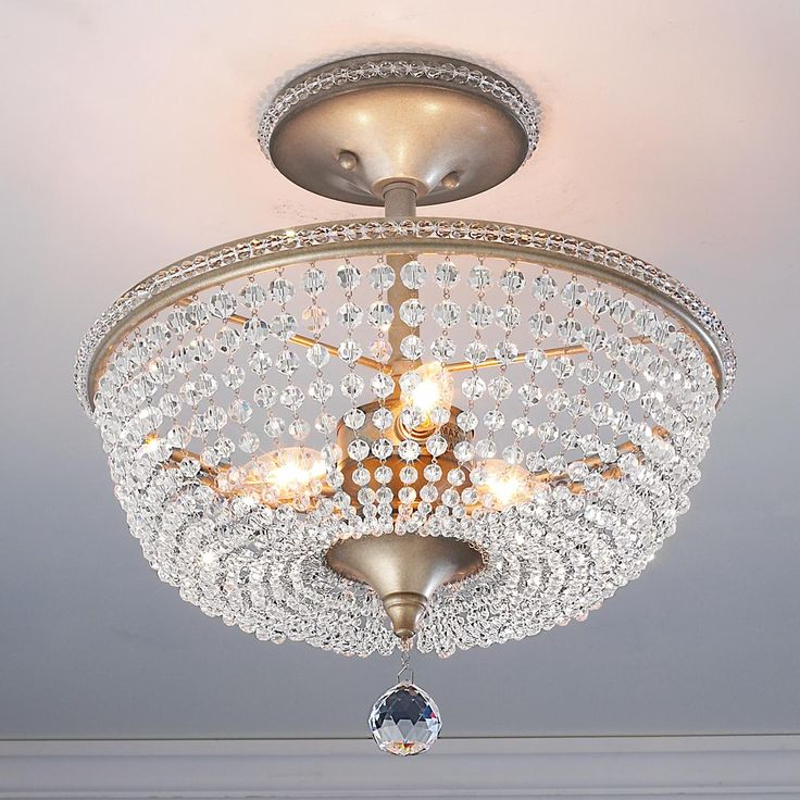 Crystal Basket Semi Flush Ceiling Light   Front foyer and garage hall    replace the ugly  boob  lights with sparkly boob lights  Sparkle is always  better 52 best Ceiling lights from Classic to Contemporary images on  . Flush Ceiling Light Shades. Home Design Ideas