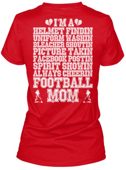 I REALLY WANT ONE OF THESE!! Limited Edition Football Mom Shirt