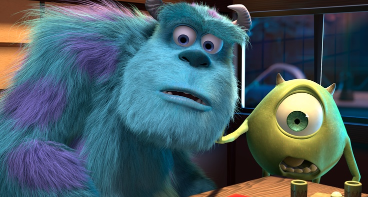 Our top scarers. Monsters, Inc., 2001.