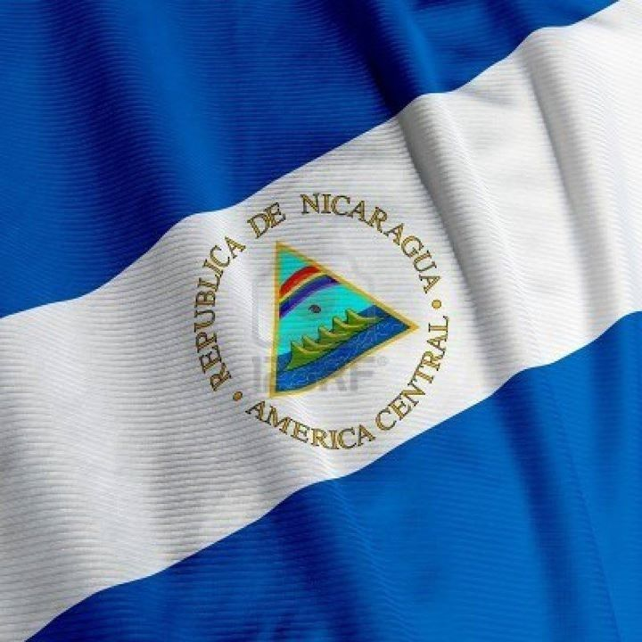 this flag represents my background. this is the Nicaraguan flag. Nicaragua is located in central america right under Honduras.