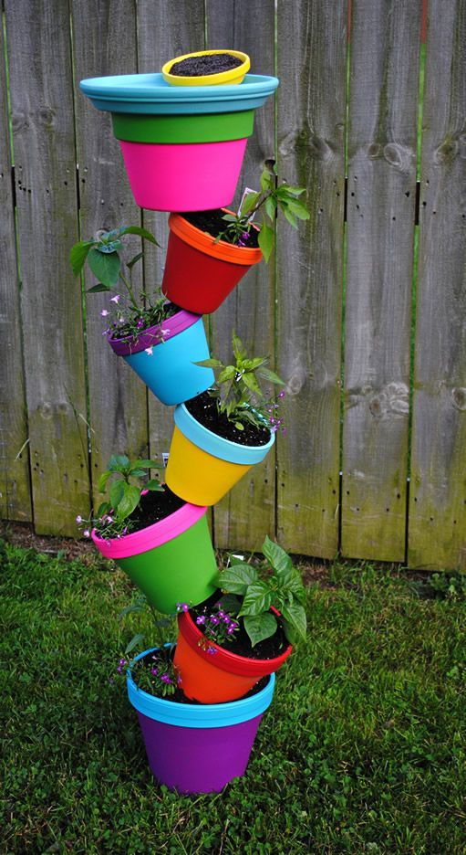 511 Best Container Gardening Ideas Images On Pinterest: 25+ Best Ideas About Flower Pot Tower On Pinterest