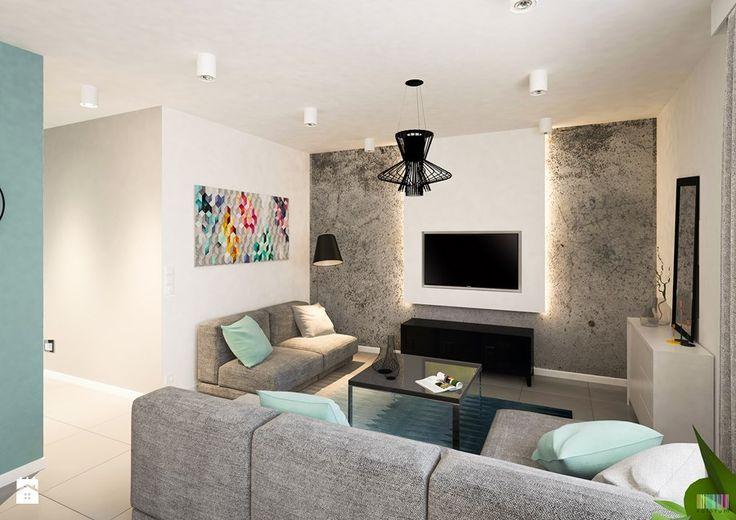 Nadmorskie Apartament - Średni salon, styl skandynawski - zdjęcie od KOLORUM