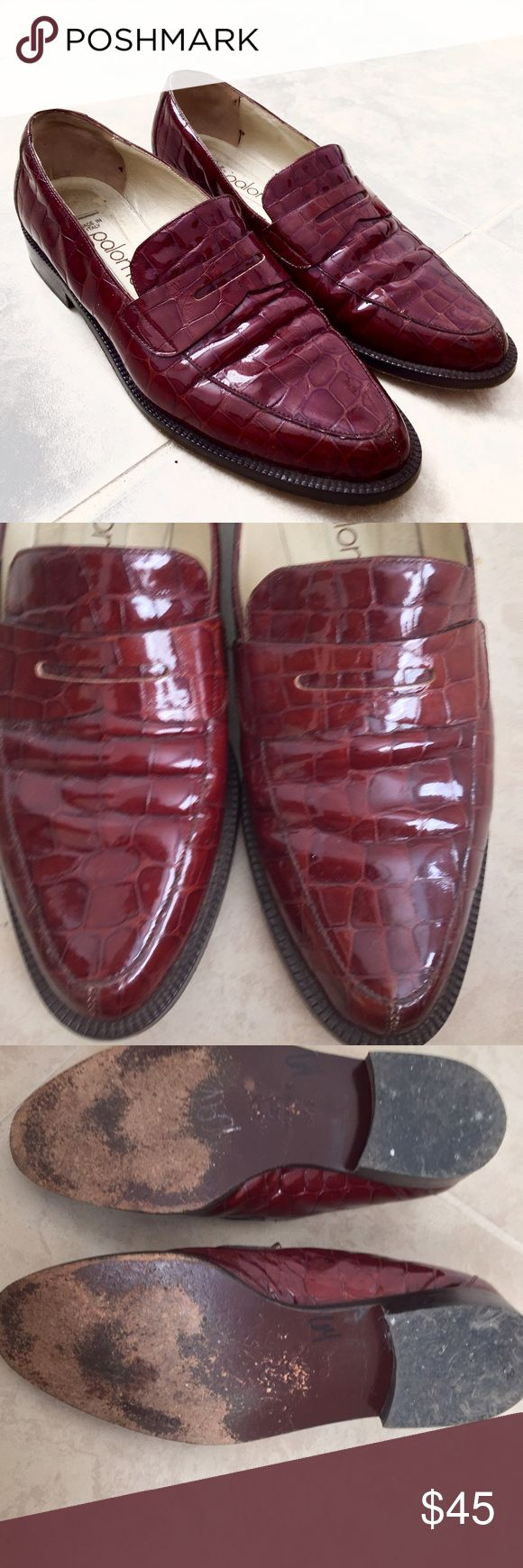 Vintage Cherry Red Italian Loafers Size 6 // .75 in. Heel // bought at vintage store in NYC Nasty Gal Shoes Flats & Loafers