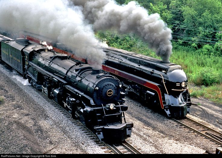 RailPictures.Net Photo: NW 1218 Norfolk Southern Steam 2-6-6-4 at Christiansburg, Virginia by Tom Sink
