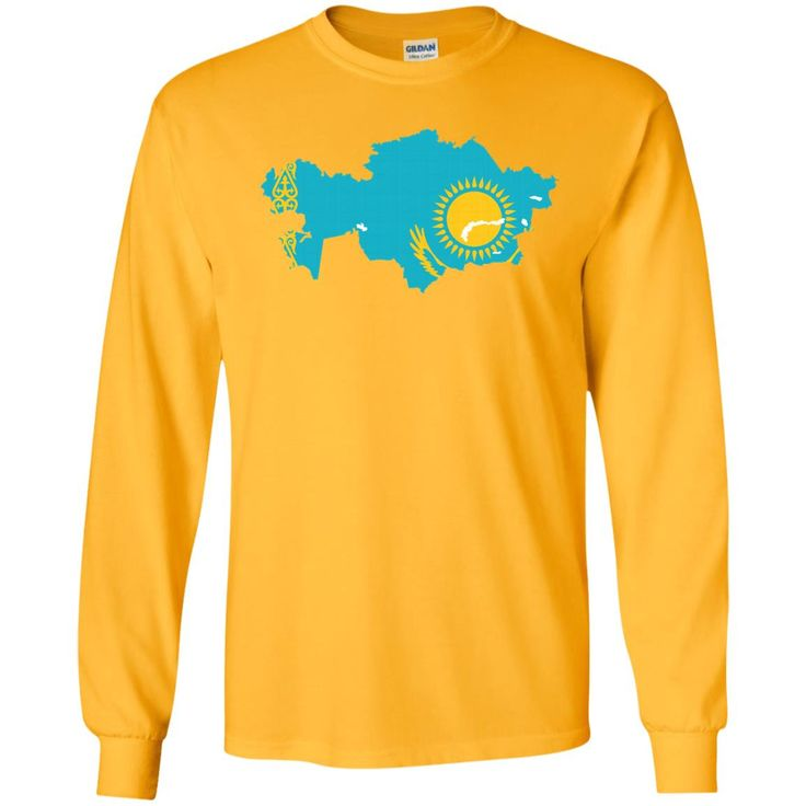 Kazakhstan flag-01 G240 Gildan LS Ultra Cotton T-Shirt