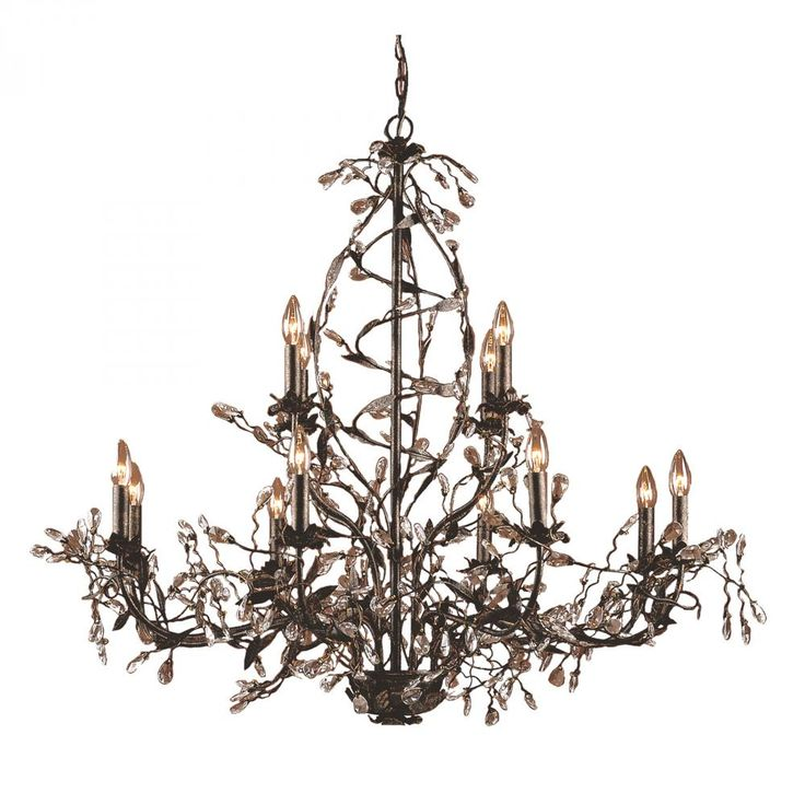 ELK Lighting Circeo 12 Light Chandelier In Deep Rust
