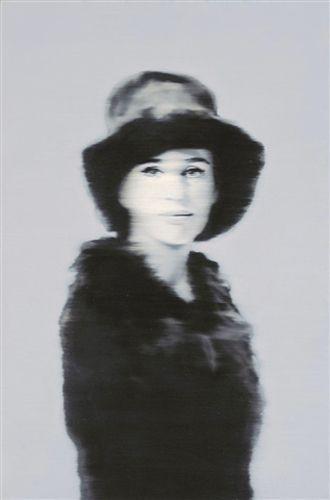 Gerhard Richter ~ Portrait of Liz Kertelge, 1966