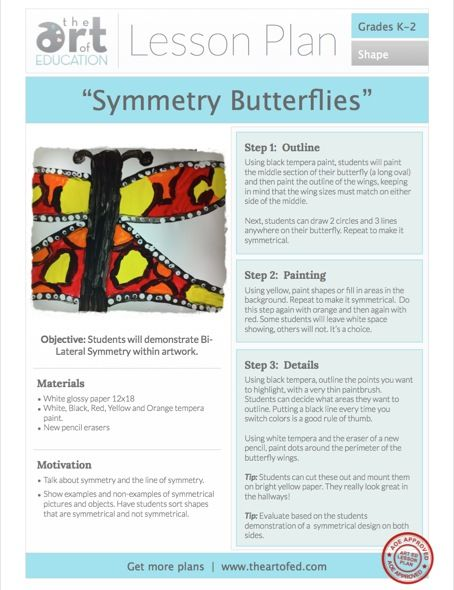 Click to Download Free Lesson Plan on Symmetry for K-2