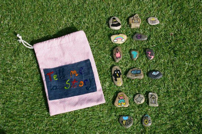 piedras pintadas para inventar historias