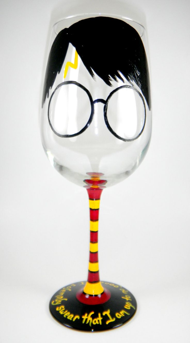 Harry Potter inspired Wine Glass by ImpulsiveCreativity on Etsy, $22.00 @Jennifer Lindahl