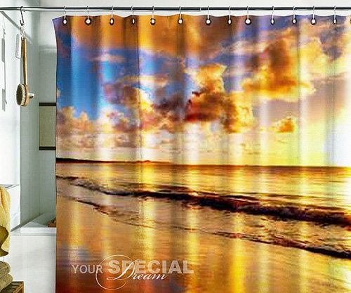 17 best images about shower curtains on pinterest for Sunset bathroom designs