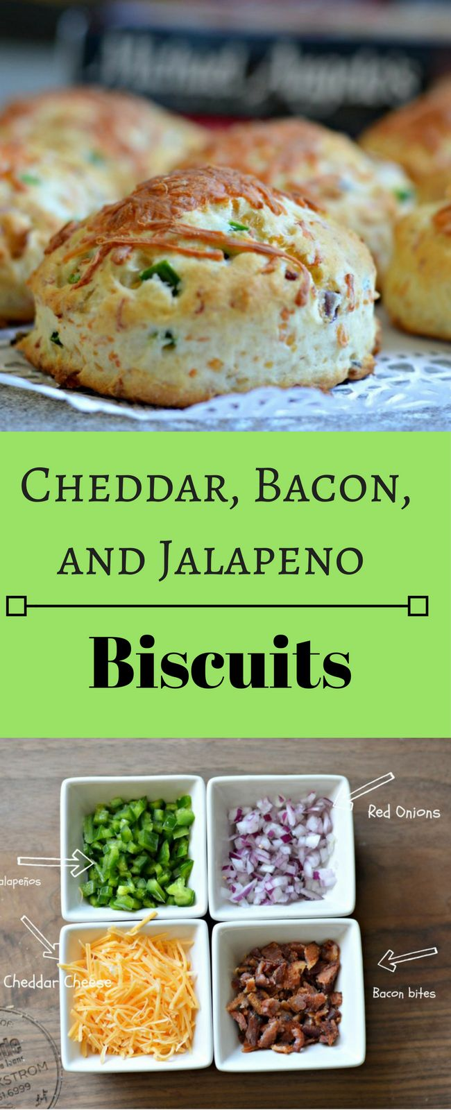 These Cheddar, Bacon, and Jalapeno biscuits are delicious and go ...