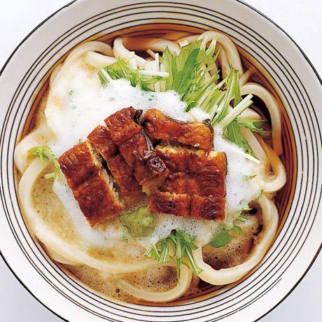 うなとろぶっかけ #recipe #Japanese #eel #udon_noodle