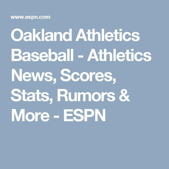 Oakland Athletics Baseball - Athletics News, Scores, Stats, Rumors & More - ESPN